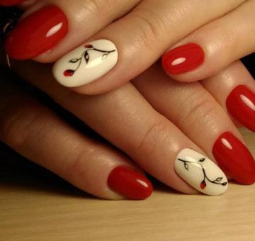 оттенки красного на ногтях