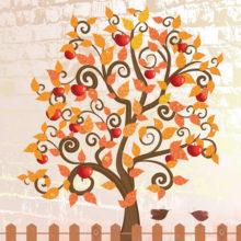 Гадание «Дерево желаний с яблоками» онлайн