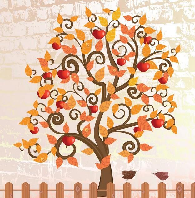 "Гадание ""Дерево желаний с яблоками онлайн"